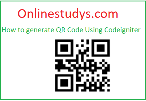 How To Generate QR Code using Codeigniter Demo & Download
